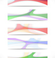 Transparent colorful web headers collection vector image vector image
