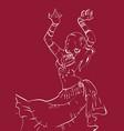 tribal fusion bellydance dancer contour graphic vector image vector image