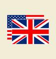 us and uk flag set vector image