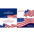 veterans day happy day celebration vector image
