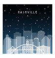 winter night in nashville night city vector image vector image