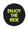 with enjoy ride text logo vector image vector image