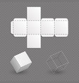 work surface of box model cube template vector image vector image