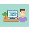 Online social communication vector image