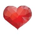 Polygonal heart isolated vector image