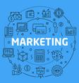 linear marketing vector image