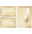 postage background vector image
