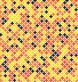 Colorful geometric cross pixel seamless pattern vector image