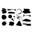 a set grunge ink drops dirty artistic design vector image vector image
