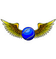 a tennis ball and stylized wings vector image vector image