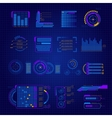 Abstract Future Interface Icon Set vector image
