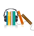 audio books concept vector image vector image