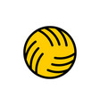 ball water polo sign ball for playing on water vector image vector image