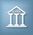 bank building vector image vector image