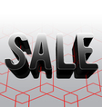 Black 3D Sale On Glossy Floor 01 vector image