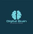 brain tech logo vector image vector image