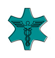 caduceus medical symbol vector image vector image
