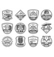 car service and garage icons vector image vector image