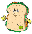 cartoon sandwich vector image