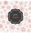chalkboard snowflakes frame seamless pattern vector image