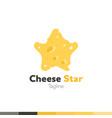 cheese star logo restaurant logo food and vector image