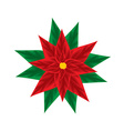 Christmas Poinsettia vector image