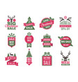 christmas sale tags badges holidays best offers vector image vector image