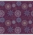 Christmas seamless pattern Light snowflake signs vector image vector image