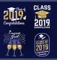 class of 2019 badge concept for shirt vector image