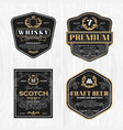 classic vintage frame for whisky labels vector image vector image