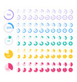 colored pie chart set isolated on white background vector image