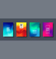 colorful modern abstract background with neon red vector image