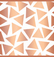 copper foil triangle seamless background vector image