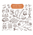 crafting tools kit vector image