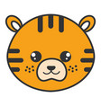 Cute and tender tiger head character