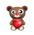 Cute brown teddy bear vector image