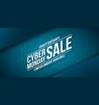 cyber monday sale crazy discounts banner vector image vector image
