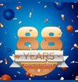 eighty eight years anniversary celebration design vector image vector image