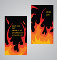Flame business card template vector image