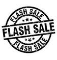 flash sale round grunge black stamp vector image vector image