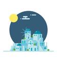 flat design santorini greece village vector image vector image