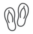 flip flops line icon travel and tourism beach vector image vector image
