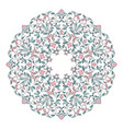 floral round ornament template for your design