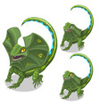 frill-neck lizard smiling and tired animal vector image
