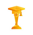 golden graduate cap graduation award vector image