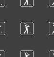 Golf sign Seamless pattern on a gray background vector image vector image