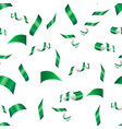 green confetti on a white vector image