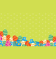 greeting card easter with eggs style vector image vector image