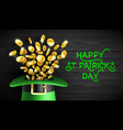 happy saint patricks day greeting card design vector image vector image