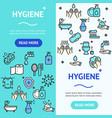 hygiene banner vecrtical set vector image vector image